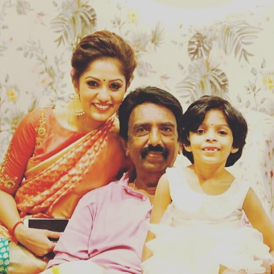 Arya Rohit with her father and daughter