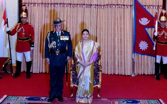 Bipin Rawat appointed as an honorary General of the Nepalese Army