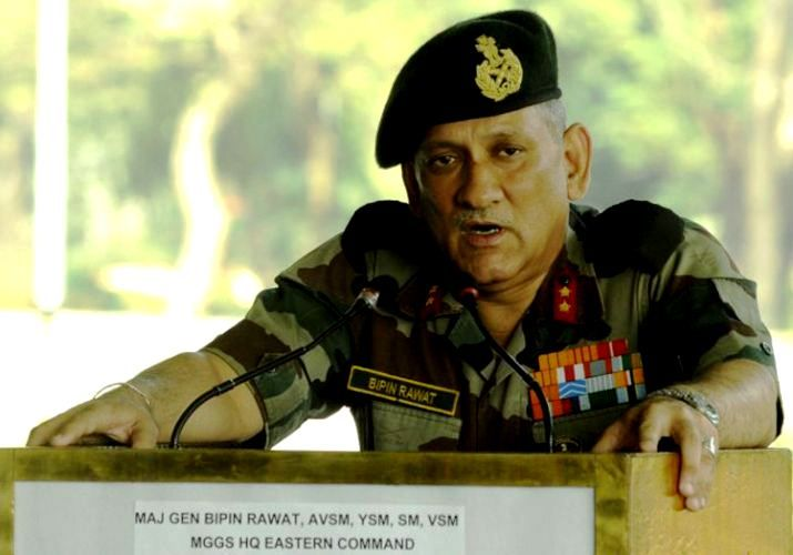 Bipin Rawat giving a speech at IMA