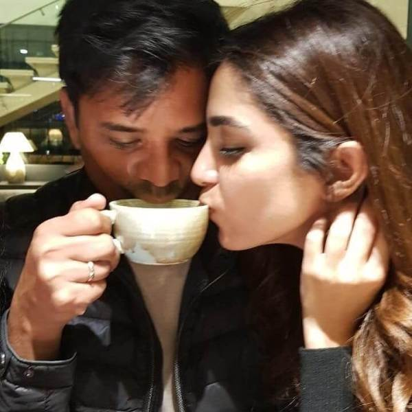 Controversial Picture of Maya Ali Sharing Tea from same cup as her Makeup Artist