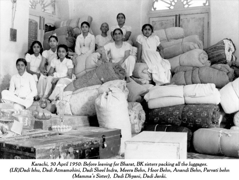Dadi Janki and Other Brahma Kumaris Relocating from Pakistan to India