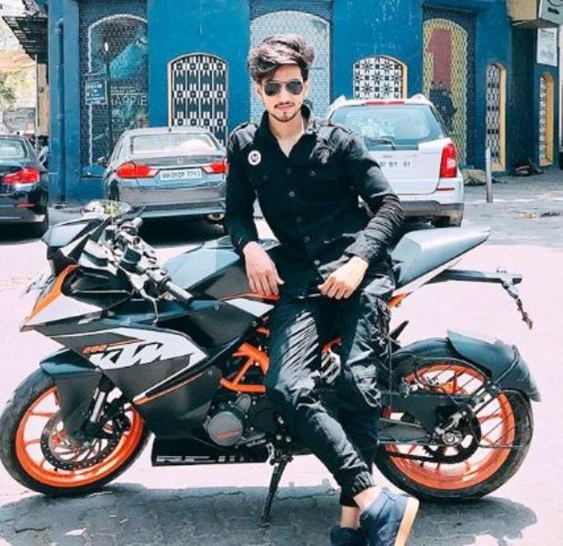 Faisal Shaikh with His Motorcycle