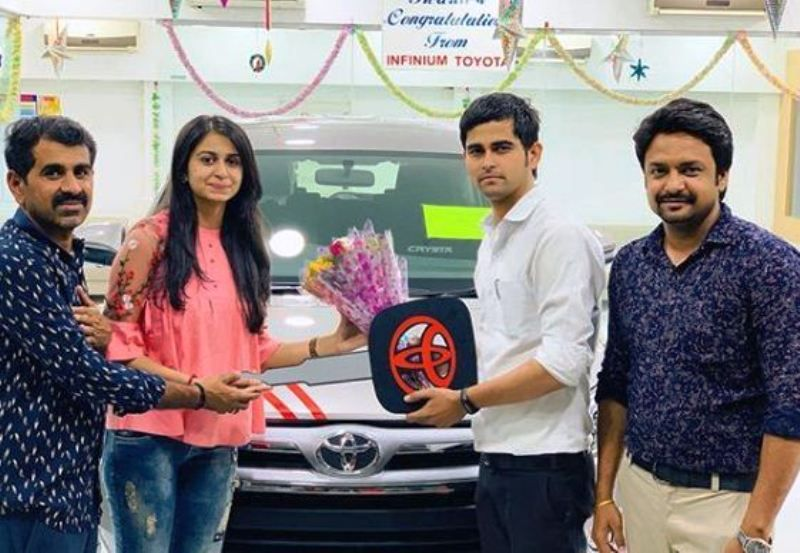 Kinjal Dave with Her New Car