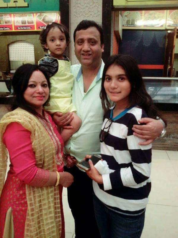 Meena Rana With her Family