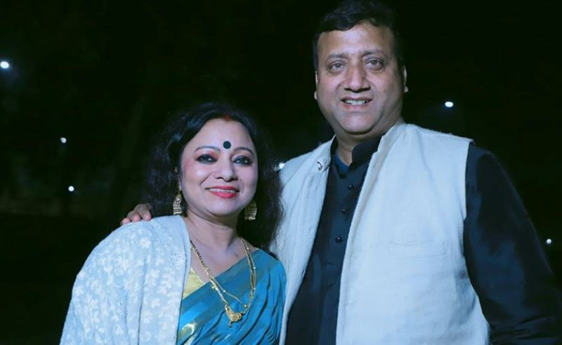 Meena Rana with her Husband