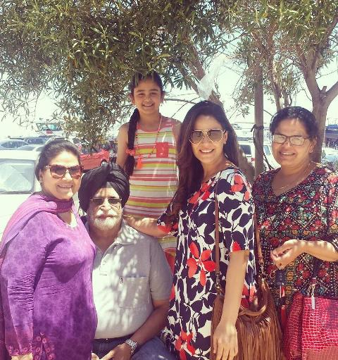 Mona Singh with her family