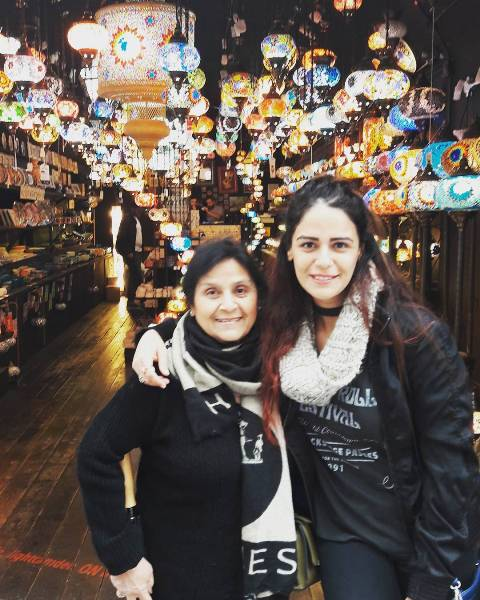 Mona Singh with her mother