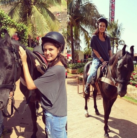 Natasa Stankovic riding a horse