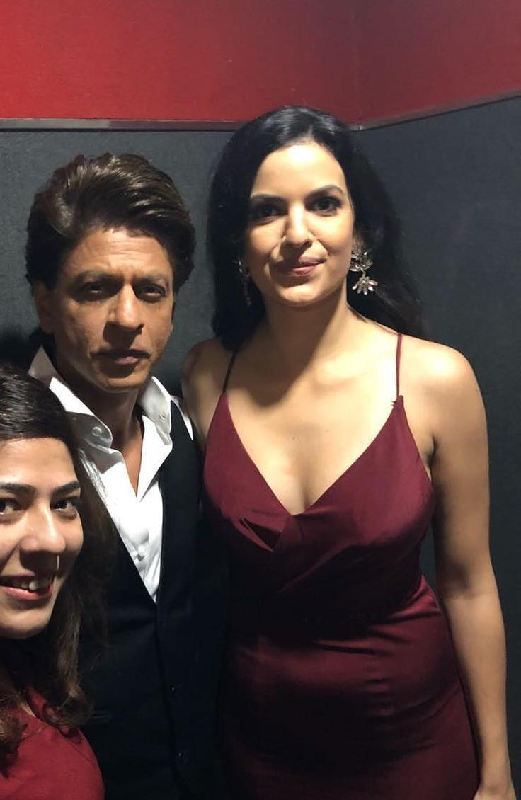 Natasa Stankovic with Shah Rukh Khan