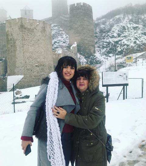 Natasa Stankovic with her mother