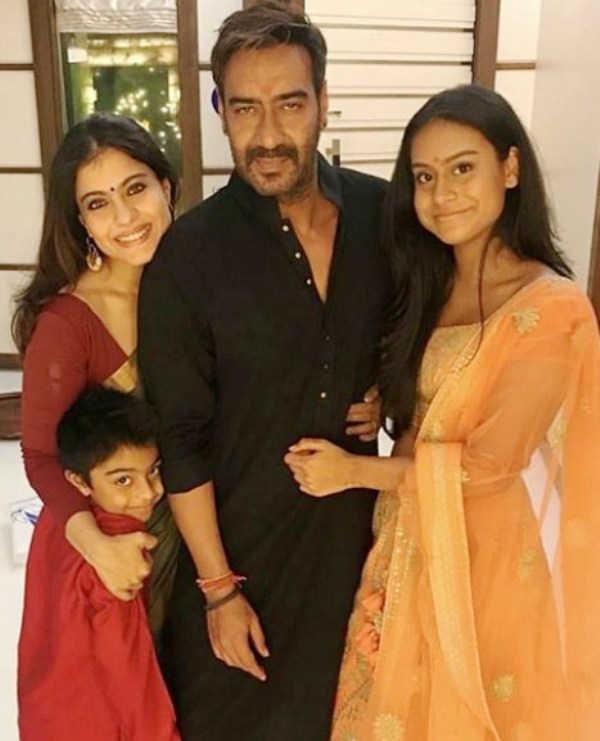Nysa Devgan with her Family