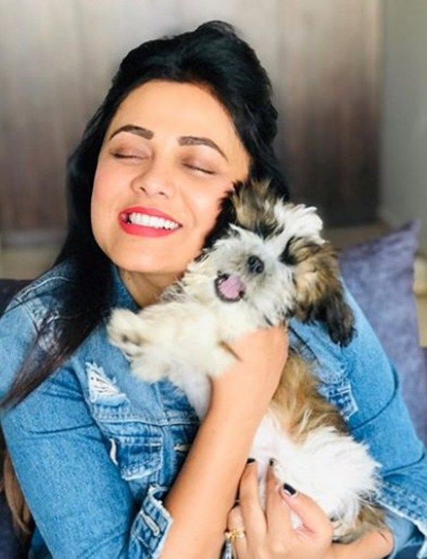 Prarthna Behere with her pet dog