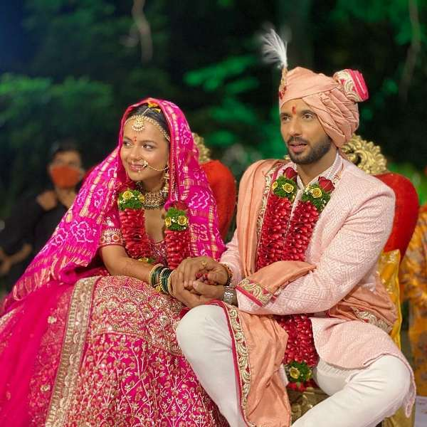 Punit Pathak and Nidhi Moony Singh's wedding picture