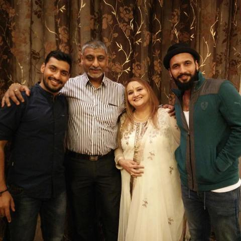 Punit Pathak with his family
