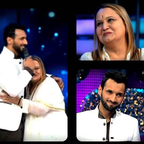 Punit Pathak with his mother