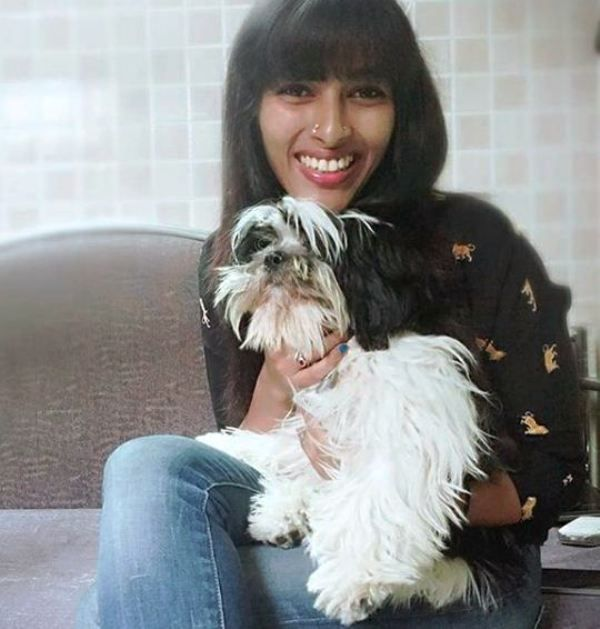 Reshma Rajan with Her Dog