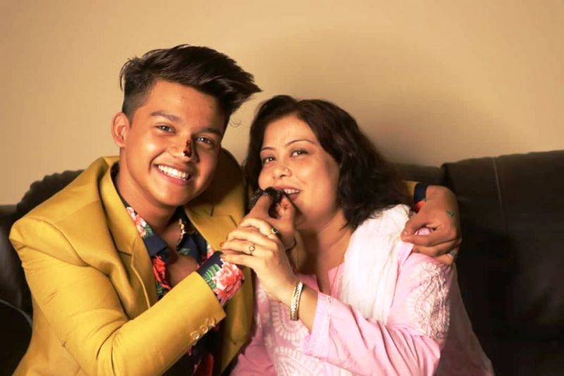 Riyaz Aly and His Mother