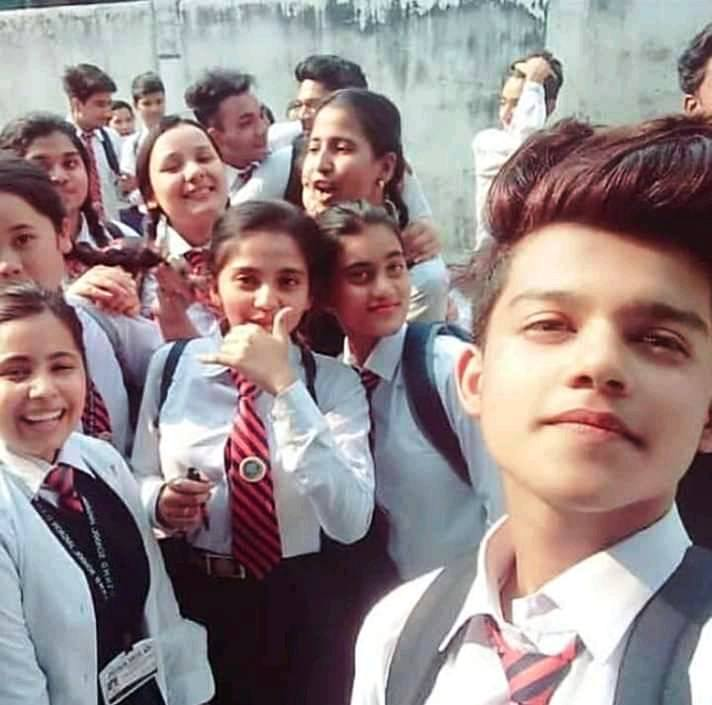 Riyaz Aly with His School Friends