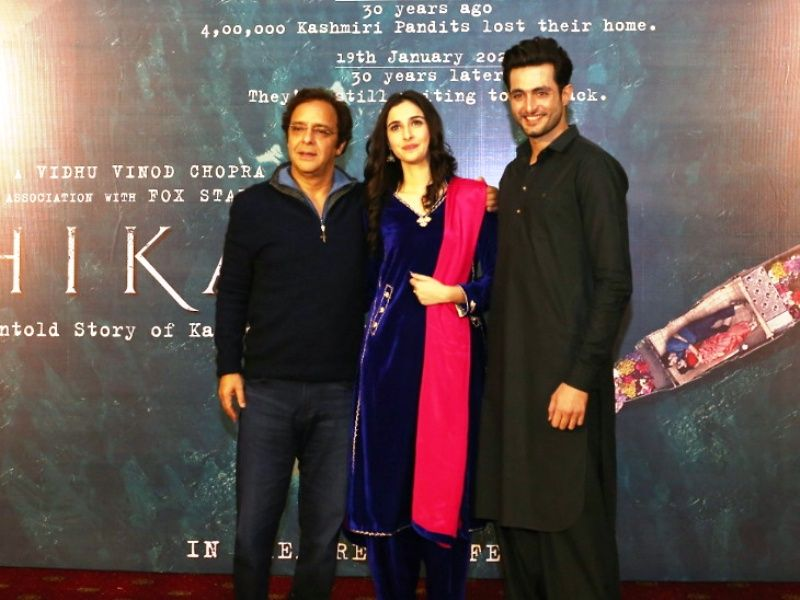 Sadia with Aadil Khan and Vidhu Vinod Chopra
