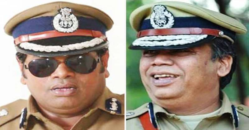 Saju Navodaya (on the left) and DGP Lokanath Behera (on the right)