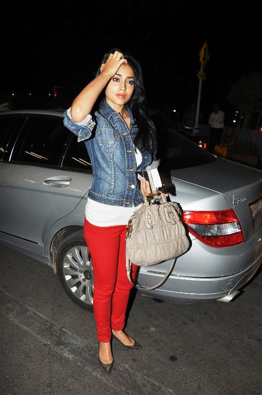 Shriya Saran with Her Car