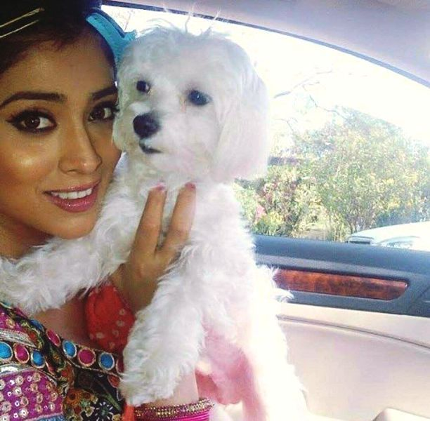 Shriya Saran with Her Dog
