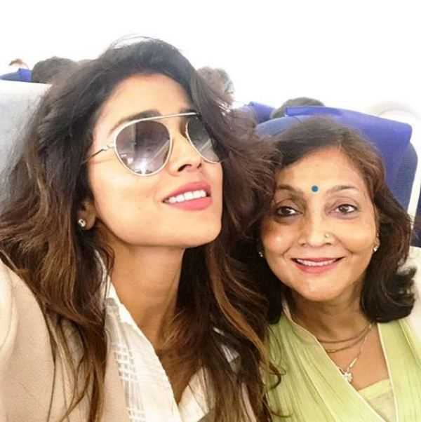 Shriya Saran with Her Mother