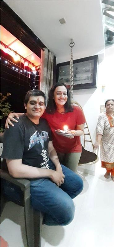 Spruha Joshi with Her Brother