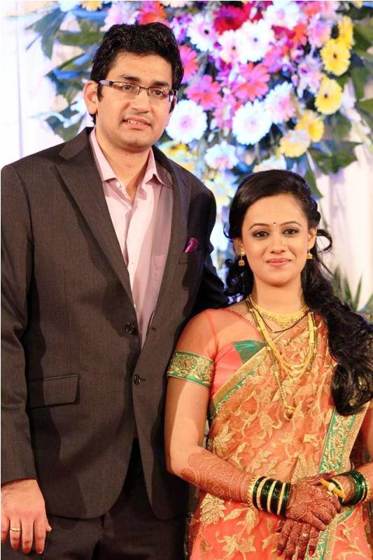 Spruha Joshi with Her Husband