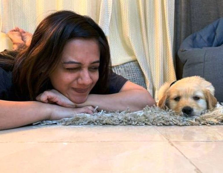 Spruha Joshi with Her Pet Dog, Scotch