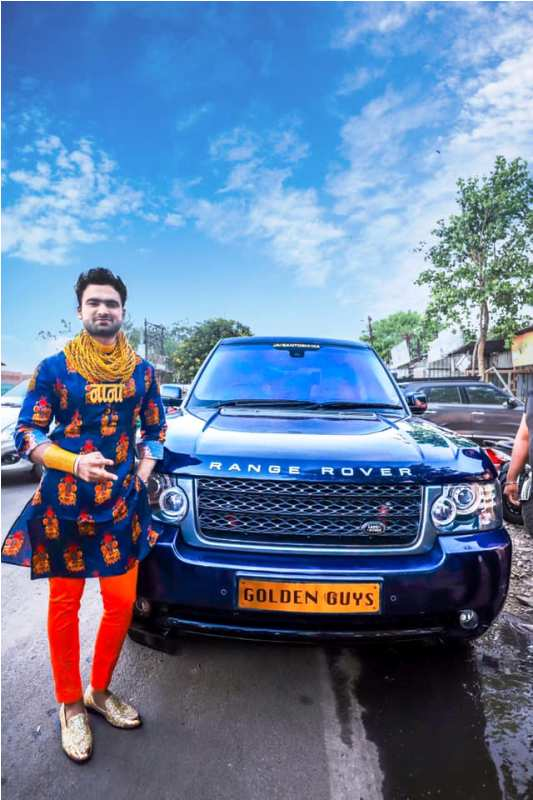 Sunny Waghchoure with His Range Rover