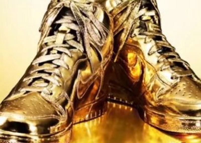 Sunny Waghchoure's Gold Shoes
