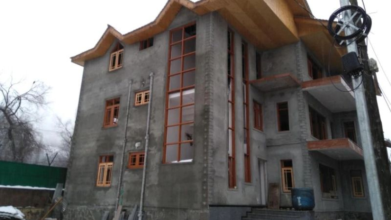 The under-construction house of DSP Davinder Singh who was arrested along with militants in Kashmir