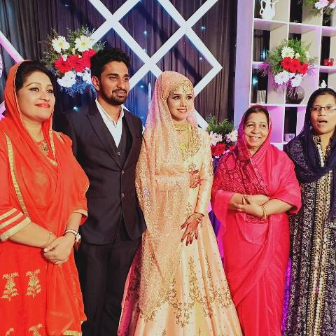 Thesni Khan with her family
