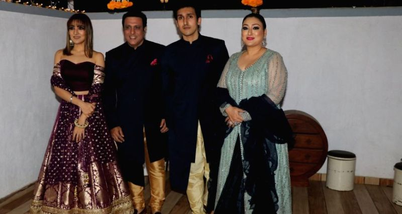 Tina Ahuja with her Family