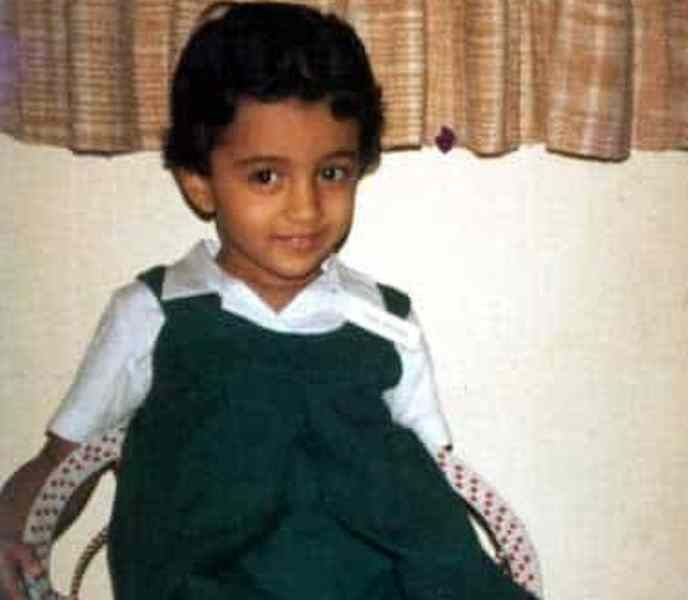 Trisha Krishnan as a Child