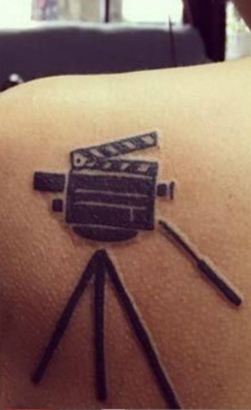 Trisha Krishnan's Tattoo- Tripod and Camera