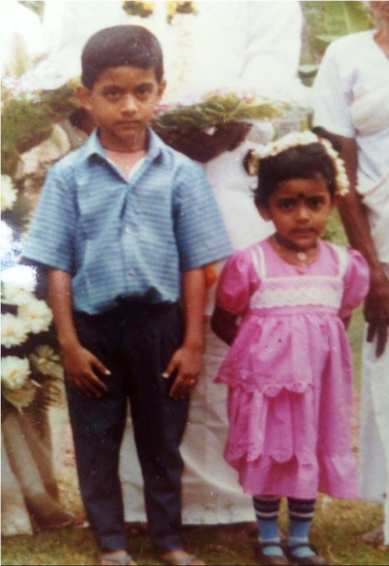 Veena Nair with Her Brother