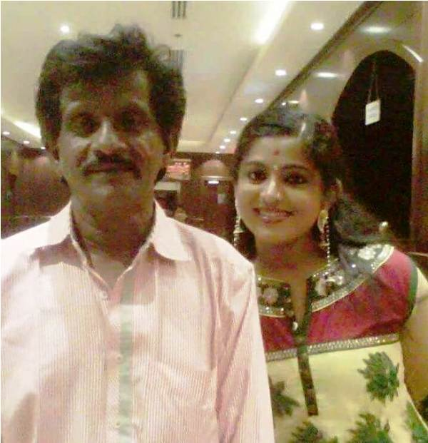 Veena Nair with Her Father