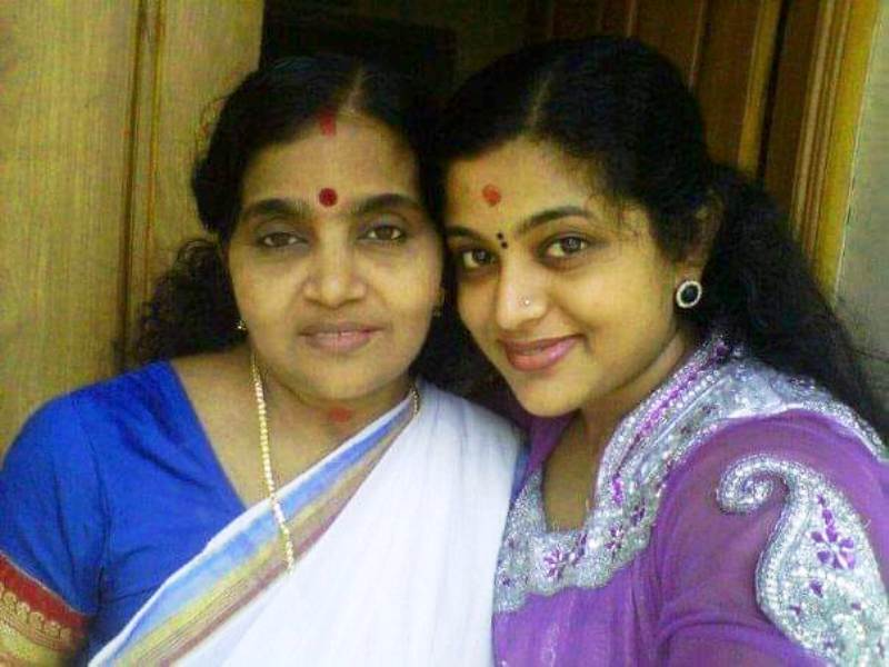 Veena Nair with Her Mother