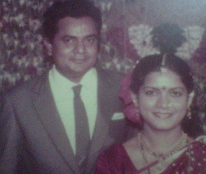 Vijay Chavan with his Wife