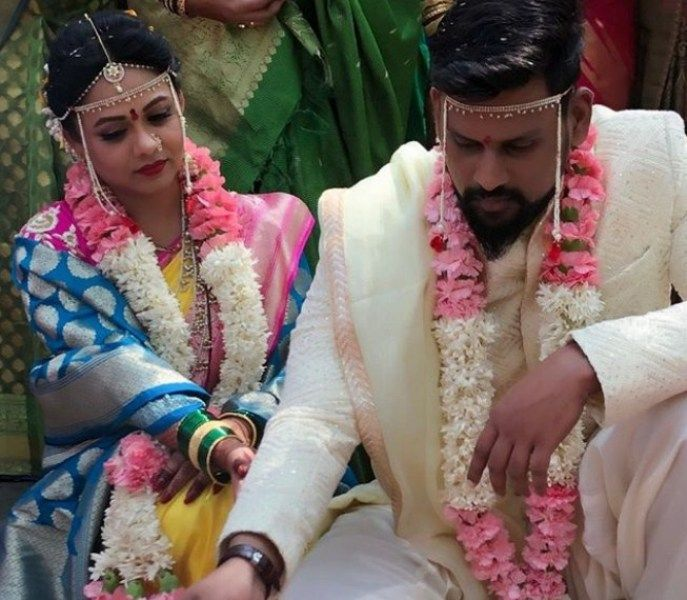 Wedding Picture of Prarthana Behere and her husband