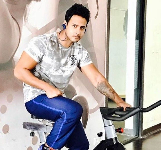 Yash Dasgupta Posing after Workout