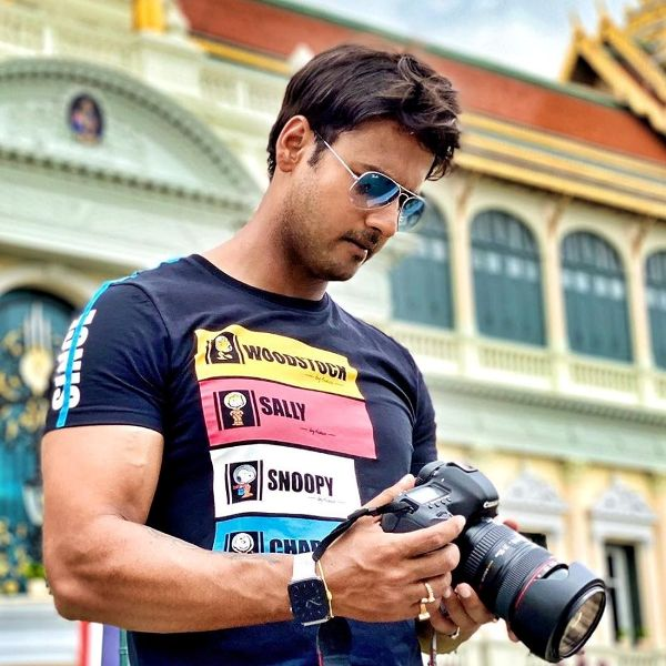 Yash Dasgupta Posing with his Camera