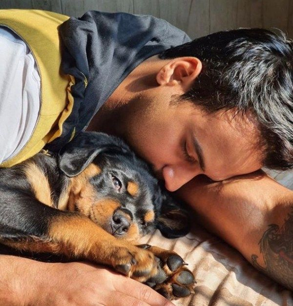 Yash Dasgupta one of his dogs