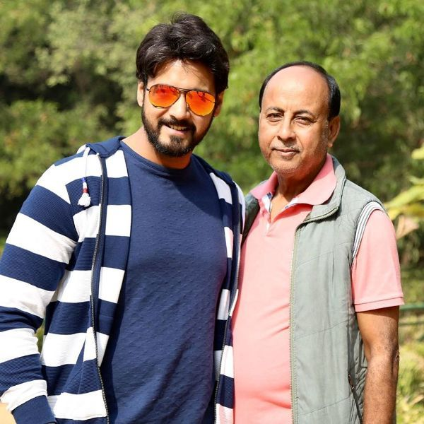 Yash Dasgupta with his Father
