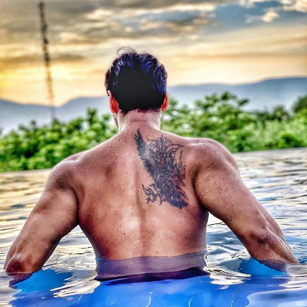 Yash Dasgupta's Tattoo on his back