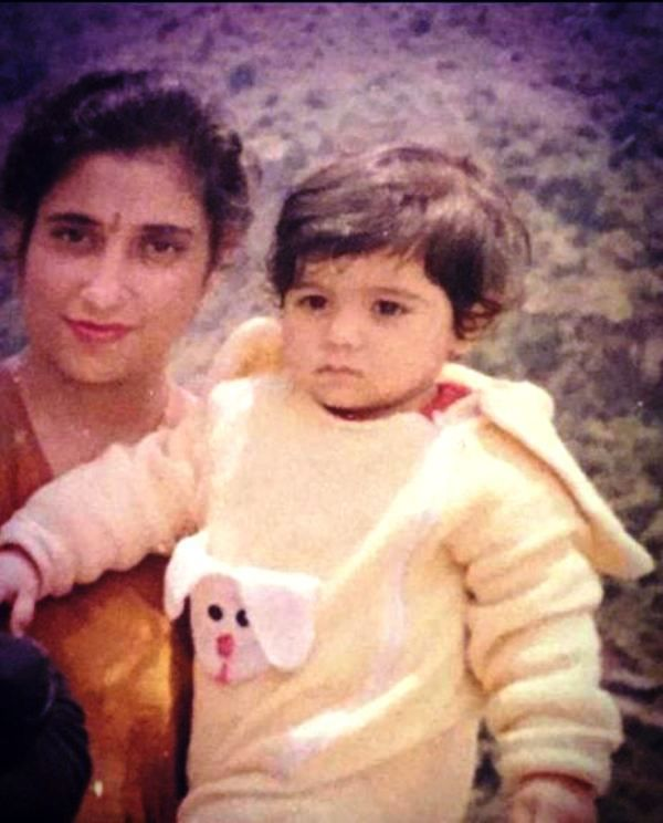 A Childhood Picture of Indeep Bakshi with His Mother