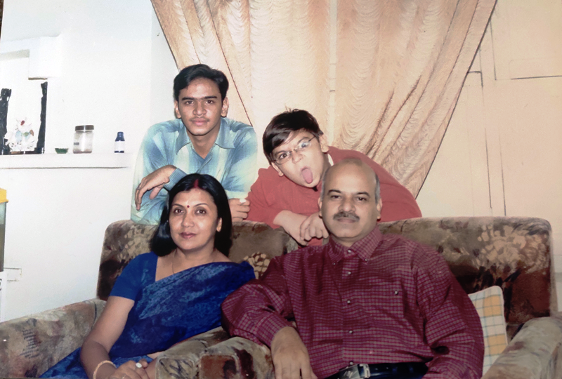 A Childhood Picture of Vaibhav Saxena With His Family