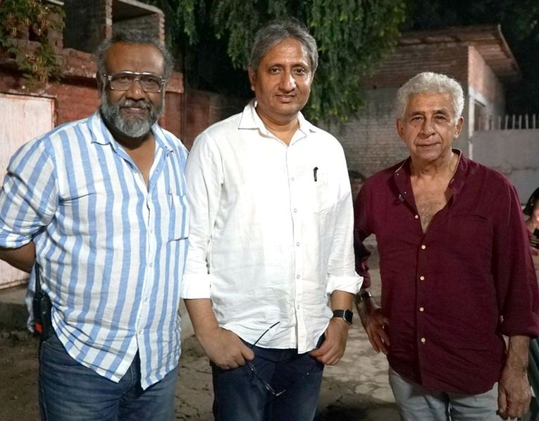 Abhinav Sinha alongside Ravish Kumar and Naseeruddin Shah